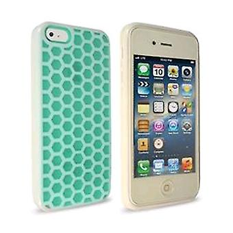 Technocel Honeycomb Hybrigel Case for Apple iPhone 5 - turkis/hvid