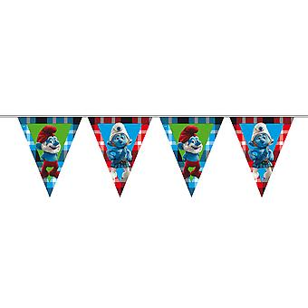 The Smurfs pennant Garland kids party kids birthday party