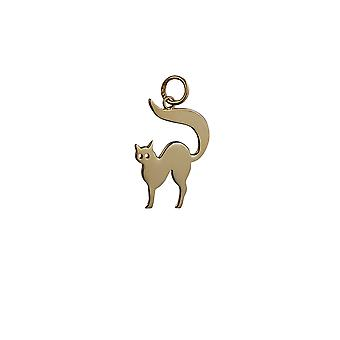 9ct Gold 17x18mm Cat Pendant or Charm