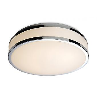 Firstlight Modern Chrome Flush Glass Shade Ceiling Light