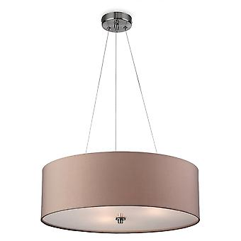 Firstlight Modern Taupe Drum Shade Suspended Ceiling Light Fitting