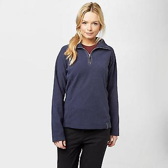 Blå Regatta kvinners Delia halv Zip Fleece