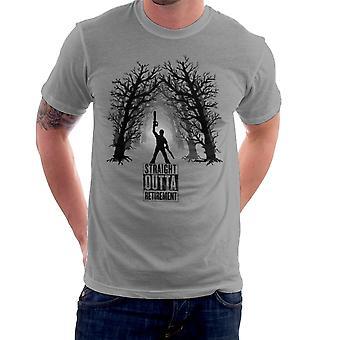 Comeback aske Vs onde døde Straight Outta pensionering mænd T-Shirt