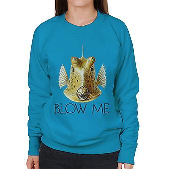 Schlag mich Longhorn Cowfish Damen Sweatshirt