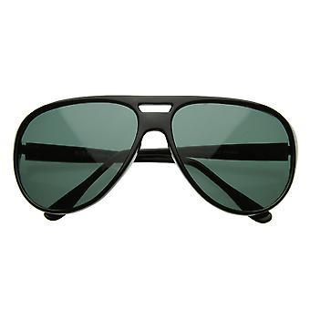 X-grande clássico retrô Teardrop plástico óculos de sol aviador w / lente G-15