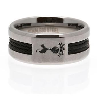 Tottenham Hotspur Black Inlay Ring Medium