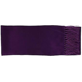 Michelsons of London Narrow Textured Silk Dress Scarf - Purple