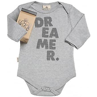 Spoilt Rotten Dreamer. Organic Baby Grow In Gift Milk Carton