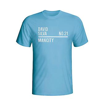 David Silva Man City Kader T-shirt (Himmel)