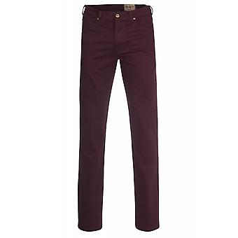Wrangler pants men's trousers Arizona stretch Bordeaux