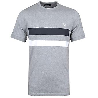 Fred Perry Grey Marl Bold Print Crew Neck T-Shirt