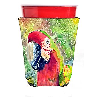 Carolines Treasures  8601RSC Parrot Head Red Solo Cup Hugger