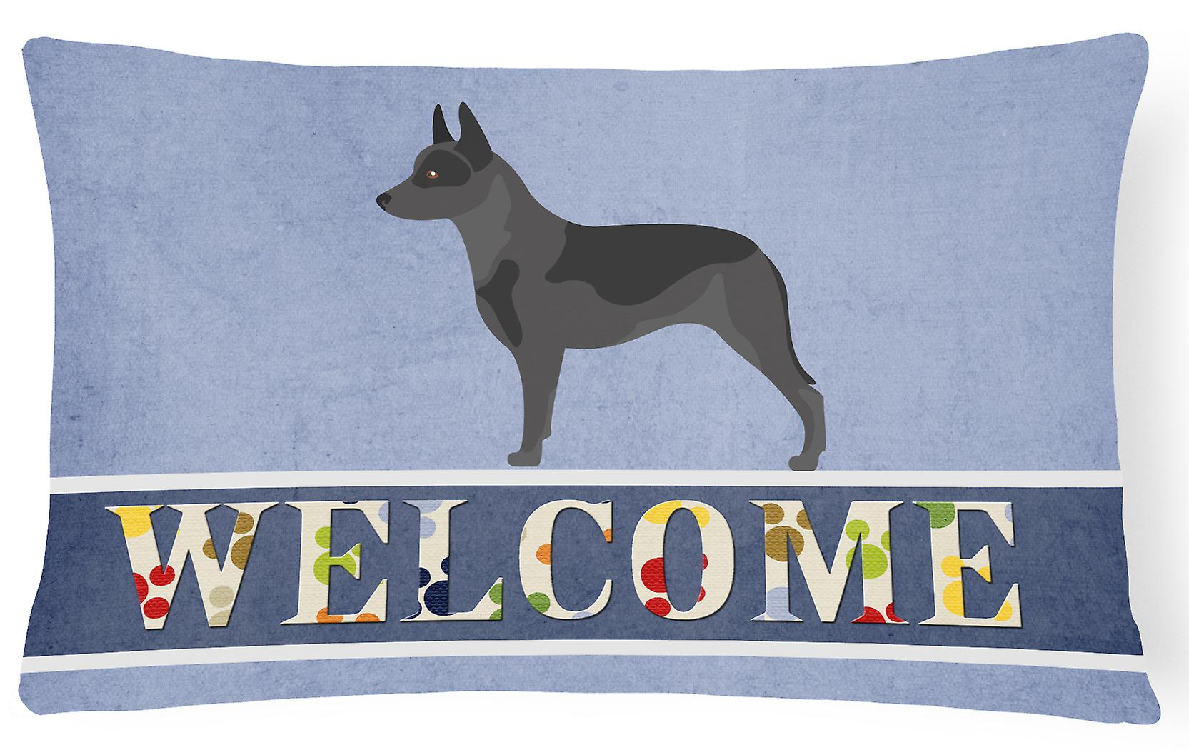 Welcome Decorative Cattle Canvas Australian Fabric Dog Pillow H9DIE2WY