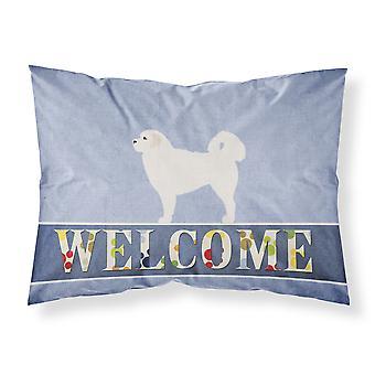 Polish Tatra Sheepdog Welcome Fabric Standard Pillowcase