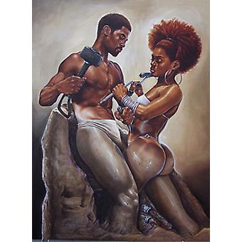 Made 4 Each Other (Medium) Poster Print by Kevin A Williams (12 x 20)