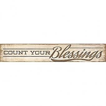Count Your Blessings Poster Print by Lauren Rader (36 x 6)