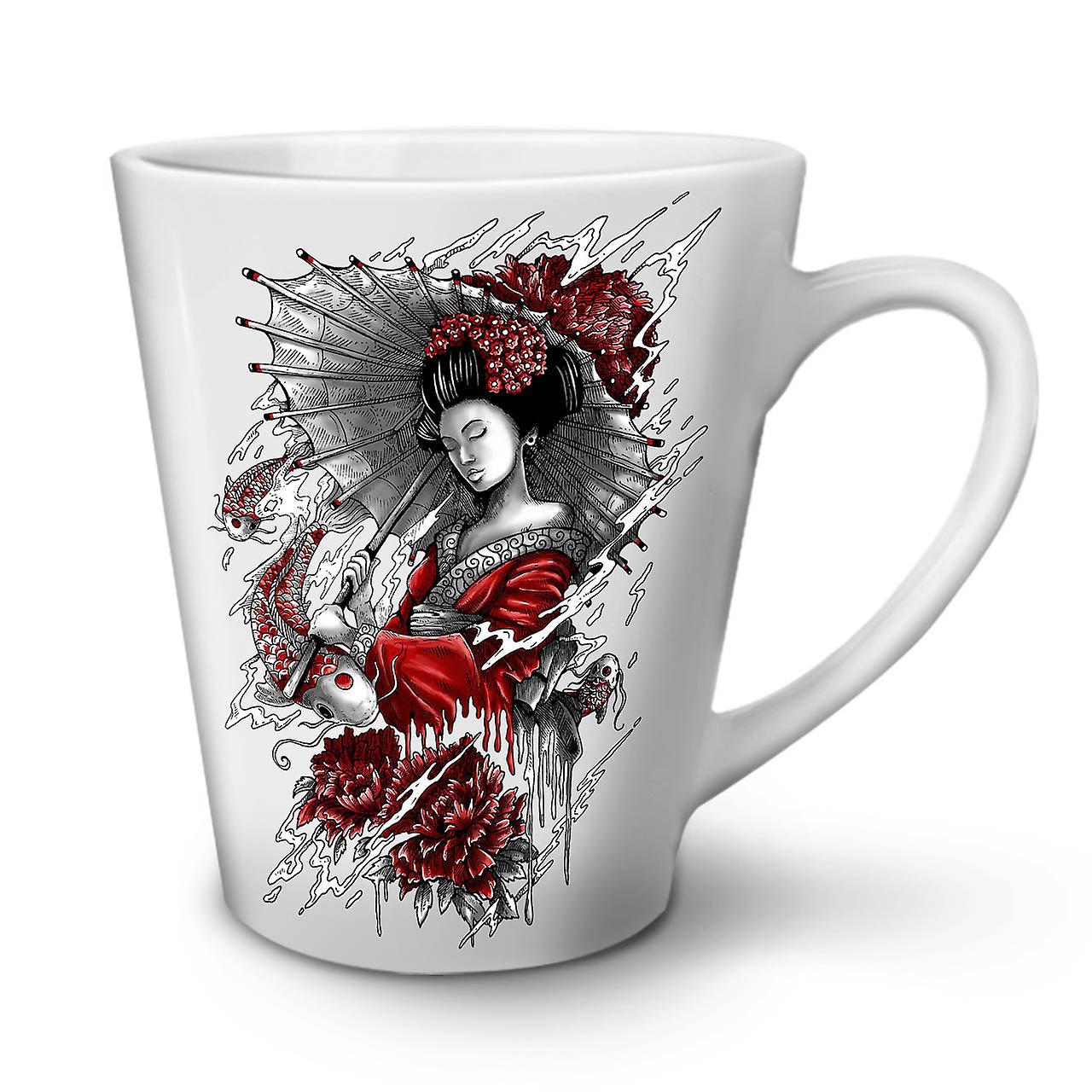 OzWellcoda New White Coffee Mug Umbrella Tea 12 Japan Ceramic Latte HWEID29