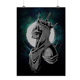 Matte or Glossy Poster with Queen Night Moon Skull | Wellcoda | *d2792
