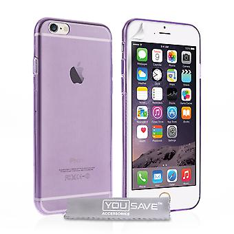 Yousave Accessories Iphone 6 And 6s Ultra Thin Gel Case - Purple