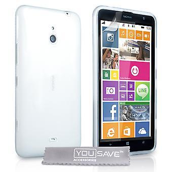 Yousave tillbehör Nokia Lumia 1320 silikon Gel Case - klart