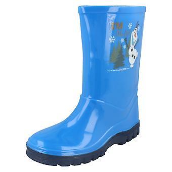 Los chicos Disney congelado Welligton botas que soy Olaf