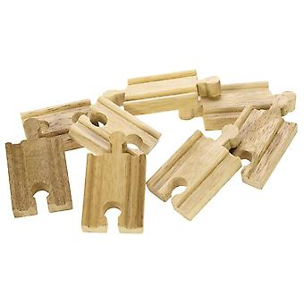Bigjigs Wooden Railway Mini piste x 8