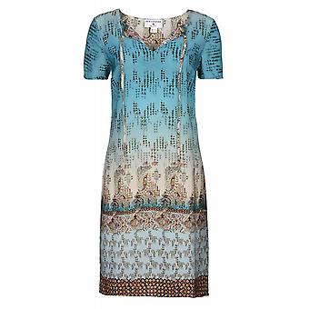 Rick cardona by heine dress ladies knee length print dress Casual Blau