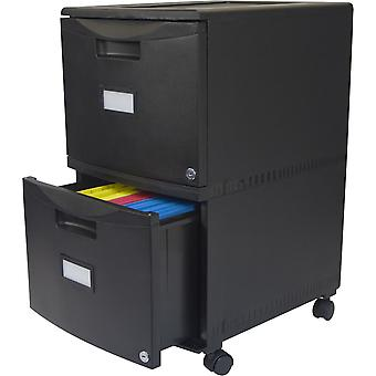 Storex 2-Drawer Mobile File Cabinet 18.25