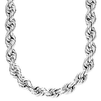Heavy Rope Twisted Kordelkette - 10mm silber