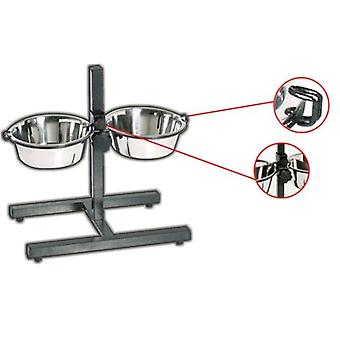 Wuapu Double Bowl adjustable 2X4L. (Dogs , Bowls, Feeders & Water Dispensers)