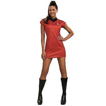 Uhura Deluxe Nyota Star Trek Movie Licensed Red Dress Women Costume