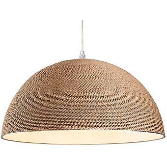 Lámpara colgante de Costa dará cuerda marrón