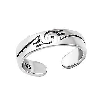 Wave - 925 Sterling Silver Toe Rings - W36424x