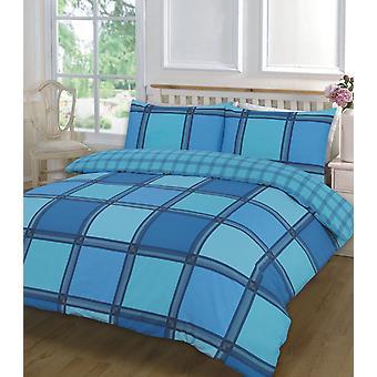 Logan kontrollera tryckt duntäcke Quilt täcka sängkläder ställa alla storlekar