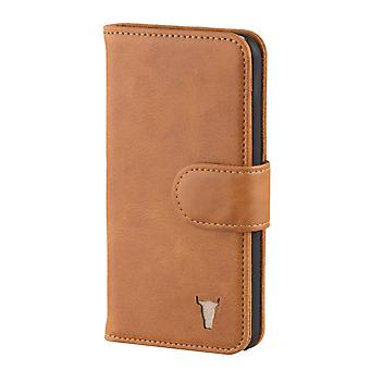 Iphone Se, Iphone 5 And Iphone 5s Usa Tan Leather Wallet Case