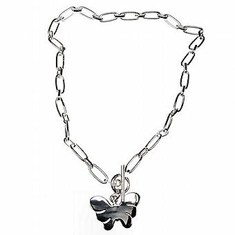 Zilveren vlinder Charm Necklace