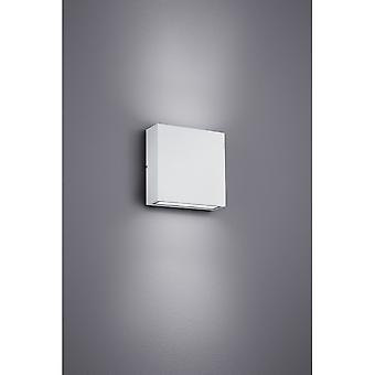 Trio Lighting Thames Modern White Matt Diecast Aluminium Wall Lamp