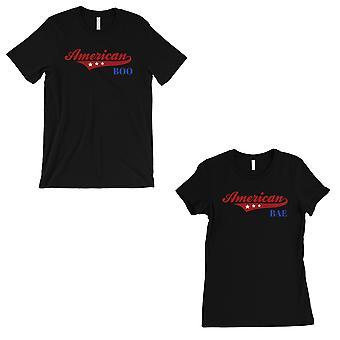 Amerikaanse Boo Bae Matching paar gave Shirts zwart voor haar