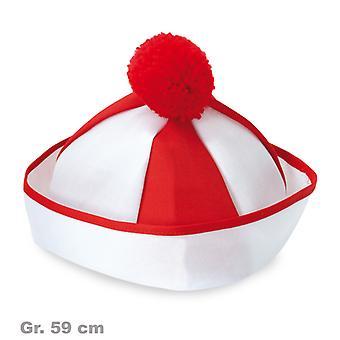 Sailor Leichtmatrose marinero gorro rojo y blanco Bobble Hat
