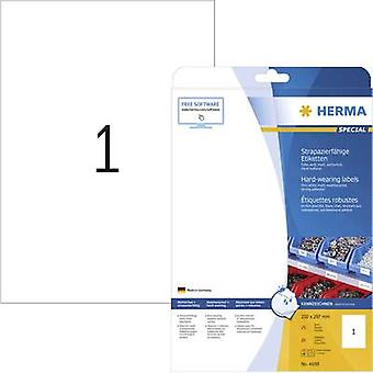 Herma 4698 Labels 210 x 297 mm Polyester film Whit