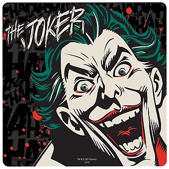 The Joker Face Cork Backed Drinks Mat / Coaster
