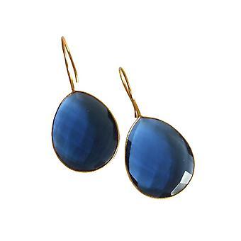 Blå Topaz Topaz London Blue Topaz øreringe forgyldt