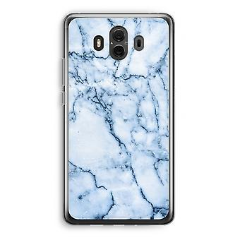Huawei Mate 10 Transparent Case (Soft) - Blue marble
