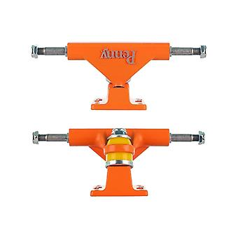 Penny Orange Solid Series - 4 Inch Pair of Cruiser Trucks