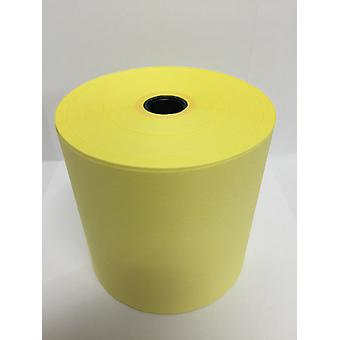 76mm x 76mm Yellow Laundry Tape / Dry Cleaning / DryStream / Wet Strength Rolls - Box of 20