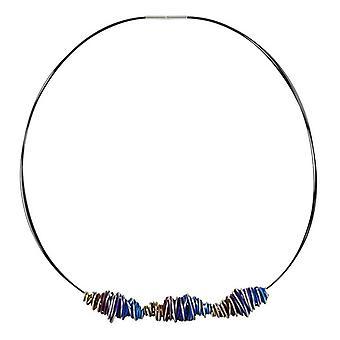 Ti2 Titanium Triple Chaos Twist hanger en halsketting - blauw