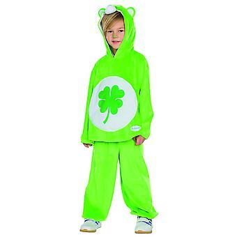 Glücksbärchi clover kids costume Carnival Pajama Carnival bear green