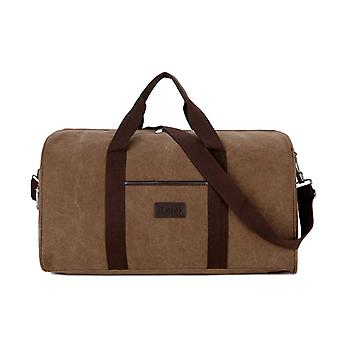 BIG Brown Weekender bag or Holdall of durable fabric