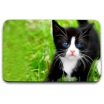 i-Tronixs - Cat Printed Design Non-Slip Rectangular Mouse Mat for Office / Home / Gaming - 11
