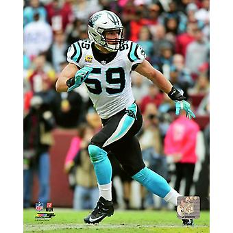 Luke Kuechly 2018 Action Photo Print